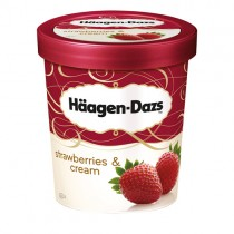 Haagen Dazs Strawberry & Cream 8x500ml