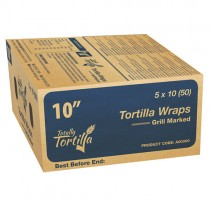 "Totally Tortilla 10"" Grill Marked Wraps 5x10"
