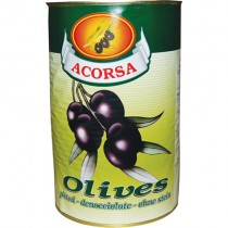Pitted Whole Black Olives 1x4.1kg *tin*