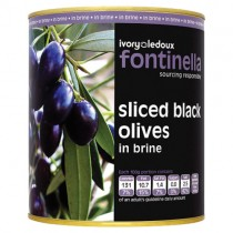 Black Olives(sliced) 1x3.1kg *tin*