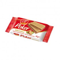 Poker Hazelnut Wafers 20x45g