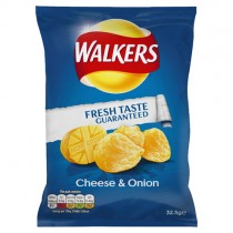 Walkers  Cheese & Onion Crisps 32x32.5g