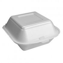 No7 White Square Burger Box  1x500