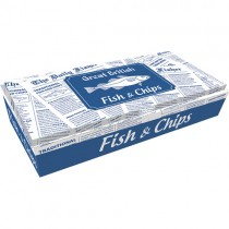 "Gb Fish&chips Box 12""  1x100 (appr)"
