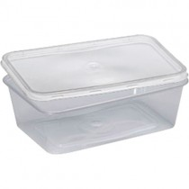 Microwavable Container & Lids (650ml) 1x250