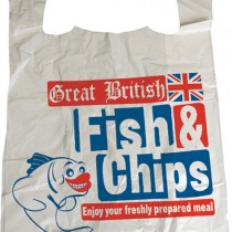 Fish & Chips Vest Carrier Bags 1x2000