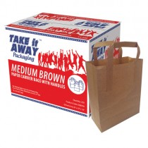 Take It Away Medium Brown Kraft S.o.s  Bags X250