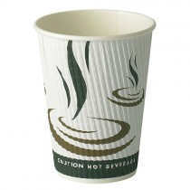 12oz Ripple Weave Hot Paper Cups 1x500