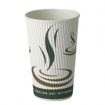 16oz Ripple Weave Hot Paper Cups 1x500