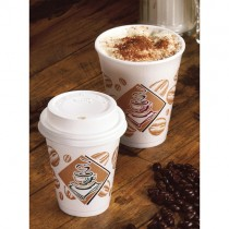 Domed Cafe G Lids 12/16oz 1000 White(p12dl)