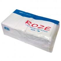 Ekol (roze) White 1 Ply Serviette 10x500