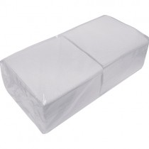 1 Ply White Serviettes 10x450