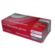 Vinyl Gloves Medium (clear) 1x100