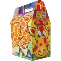 Animal World Kids Meal Box (& Toy) X100