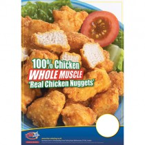 Whole Muscle Chicken Nugget A3 Poster
