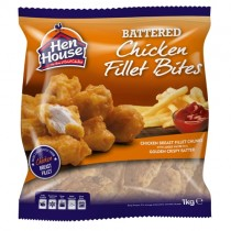 Hen House Battered Chicken Fillet Bites 1x1kg