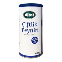 Sutat Fetta Cheese (60% Fat) 1x800g Tin