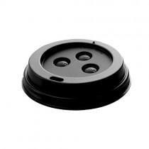 8oz Black Domed Lids (44737g) 1000