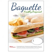 Freshly Prepared Baguettes A3 Poster